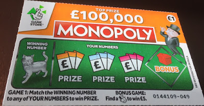 £1 Monopoly Scratch Card