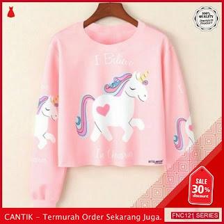 FNC121S24 Sweater Crop Unicorn Babytery Wanita BMGShop To Serba 40 Ribuan