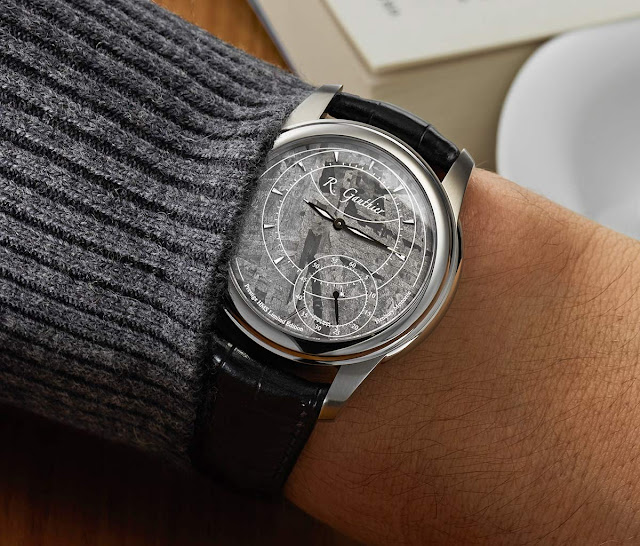 Romain Gauthier Prestige HMS Stainless Steel with Meteorite Dial on the wrist