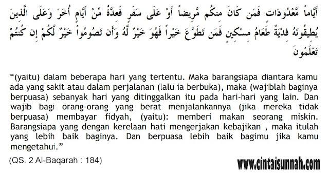 Belajar Memahami Hukum, Hikmah, dan Manfaat Berpuasa. Perintah Berpuasa (QS. Al-Baqarah : 184)