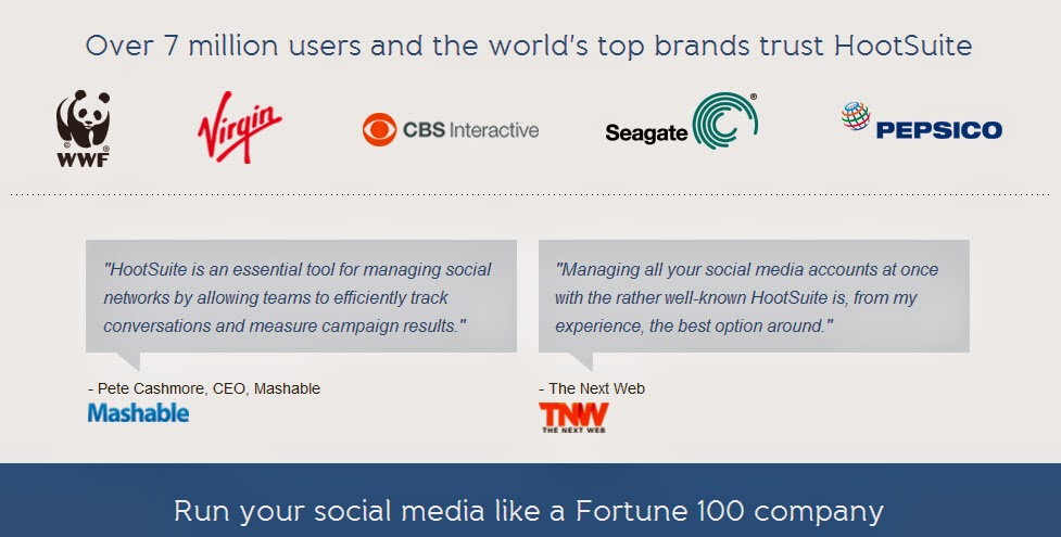 Run your social media like a Fortune 100 company.