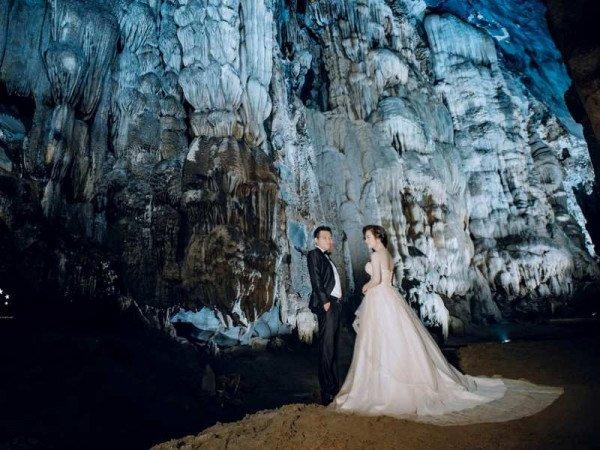chụp ảnh cưới tại động nàng tiên bắc kạn