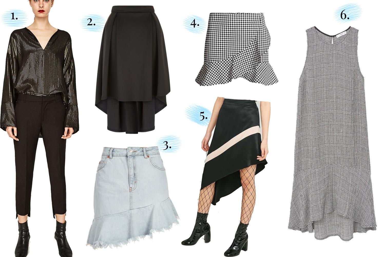 S/S 17 Trend Series Asymmetric Skirts & Hemlines High street brands including Topshop, New Look & Zara
