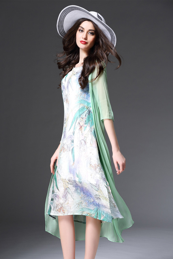 DRESS CHIFFON KOREA - DRESS CANTIK WANITA KOREA STYLE