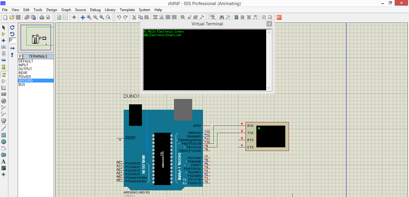 Checkout Electronics Lovers Technology We Love Proteus Circuit Design Software Arduino Virtual Terminal In