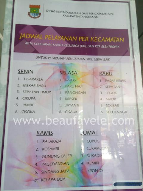 Jadwal membuat KTP di kabupaten Tangerang