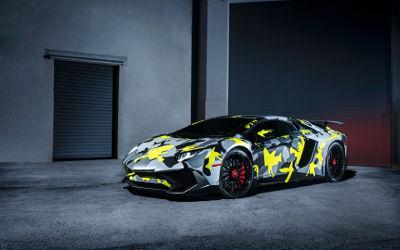 Lamborghini Aventador LP 750 4 SV - Fond d'Écran en Full HD 1080p