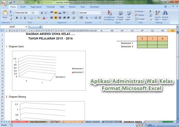 Aplikasi Administrasi Wali Kelas Format Microsoft Excel