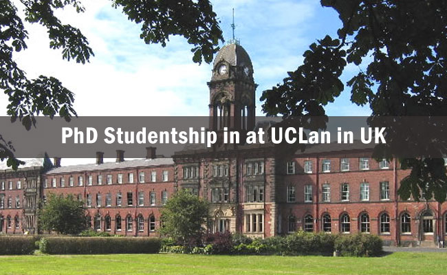 PhD Studentship in Astronomy or Astrophysics at UCLan in UK 2017