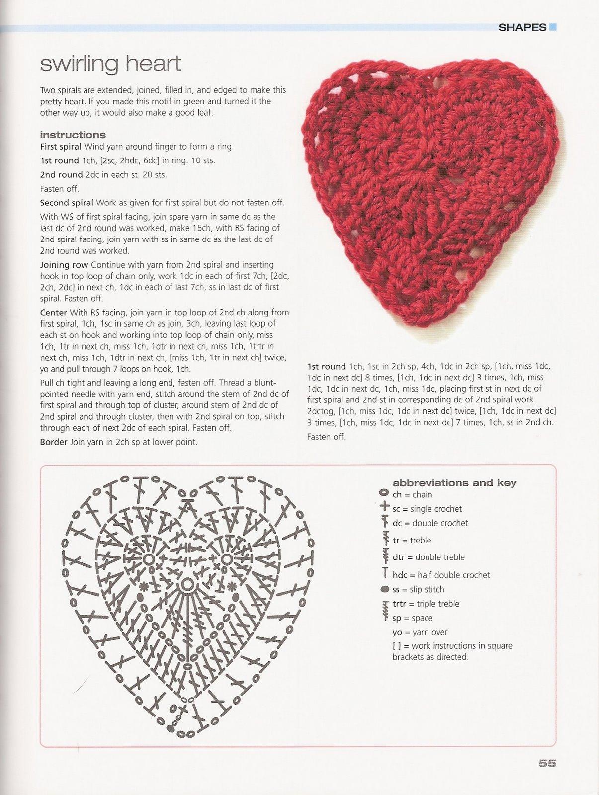 patron de corazones a crochet » 4K Pictures | 4K Pictures [Full HQ ...