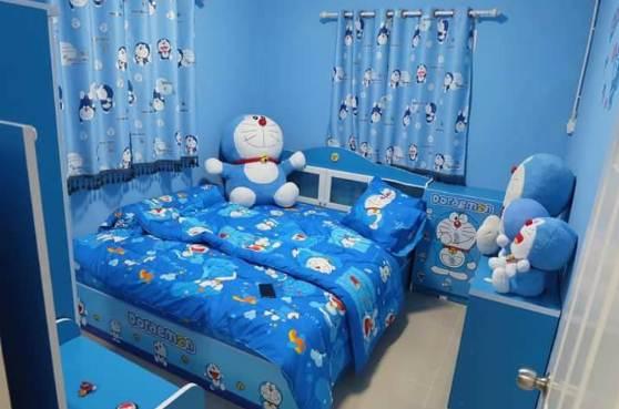 Kamar Rumah Minimalis type 30 Dengan Aksesoris Doraemon