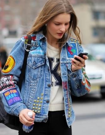jeans personalizado com detalhes