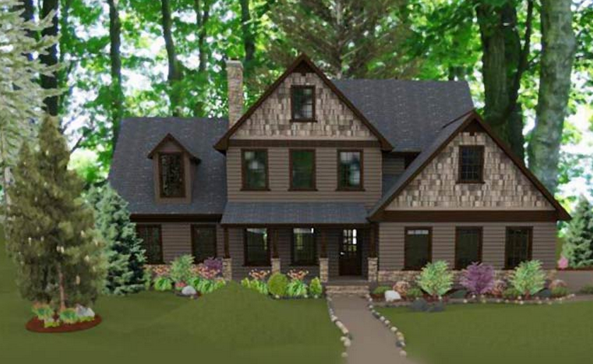 Beautiful country cottage house plan timber frame houses Cottage house plans