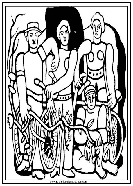 the beautiful team fernand leger printable adults coloring pages