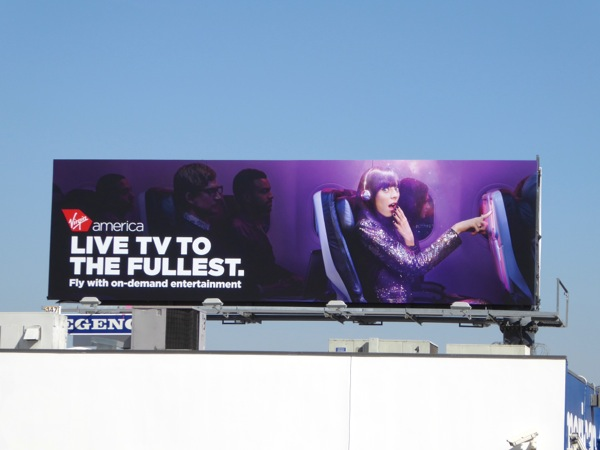 Virgin America Live TV fullest billboard