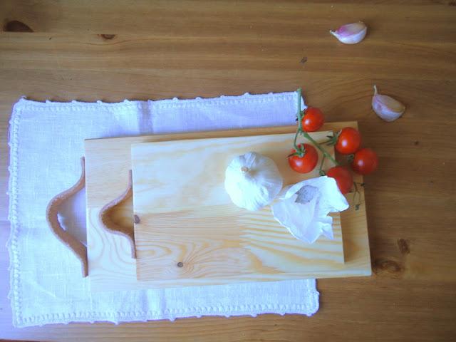 deska kuchenna ze skórzanym uchwytem,DIY