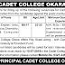 The Cadet College Okara Jobs