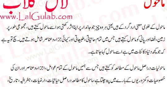 Environment Essay In Urdu Mahol Ki Safai Mahol Ki Aloodgi Par Mazmoon ...