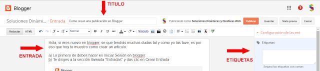 Nueva Entrada Blogger