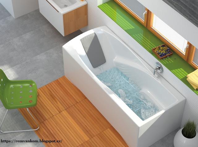 Ассиметричные ванны экономят место и удобны