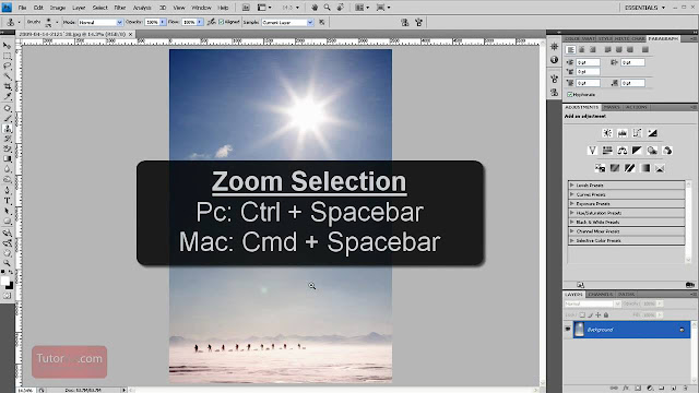 Cara Zoom di Photoshop