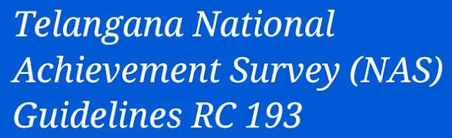 Telangana National Achievement Survey (NAS) Guidelines RC 193
