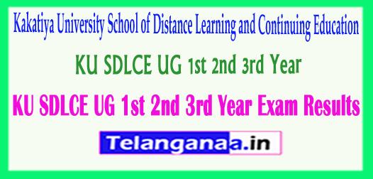 KU SDLCE UG 1st 2nd 3rd Year Exam Results 2018