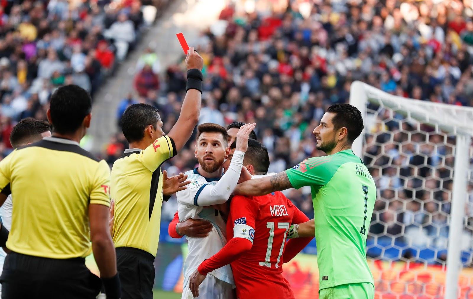 Expulsion de Lionel Messi