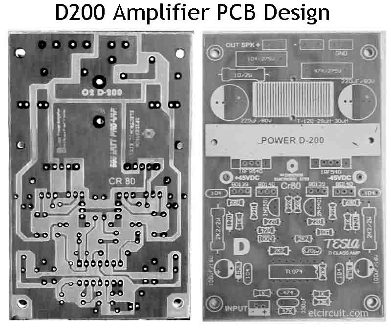 d200 class d power amplifier for diy audio electronic circuit. Black Bedroom Furniture Sets. Home Design Ideas