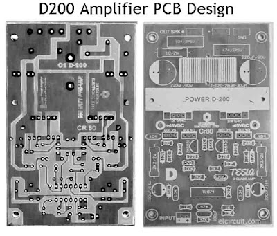 PCB Design D200 Class D Amplifier