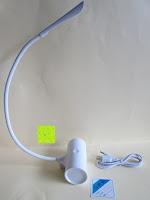 gebogen: GHB dimmbare LED Schreibtischlampe 3-Level Helligkeit 360° flexiblen Schwanenhals Tischlampe -Weiß [Energieklasse A+]