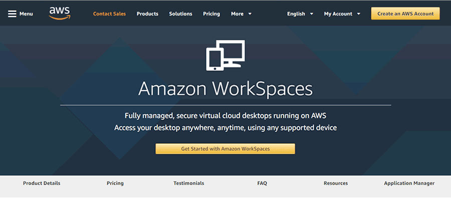 Amazon WorkSpaces offers easy-to-manage virtual desktop computing infrastructure