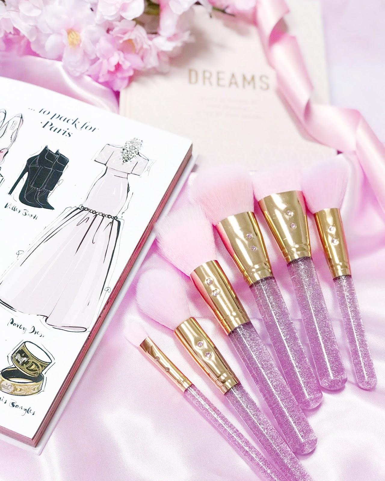 Pretty Pink Princess Makeup Brushes