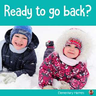 Are you ready to go back? Christmas vacation is over, so I'm trying to help that transition back a little easier!