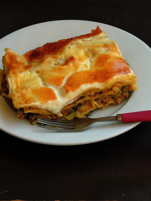 Mushroom & Spinach Lasagna