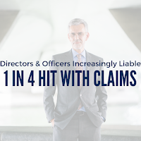 Directors and Officers Increasingly Liable: 1 in 4 Hit With Claims