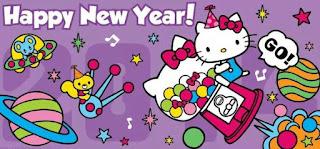 Gambar Hello Kitty Happy New Year Terbaru Selamat Tahun Baru Wallpaper HD