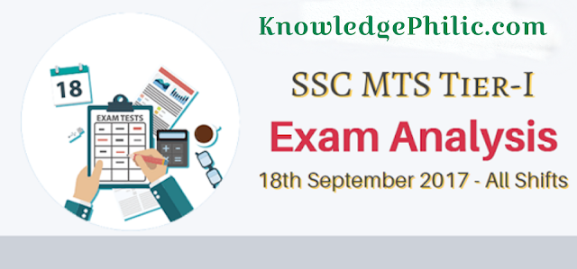 SSC MTS Questions Asked 18th September 2017 – (All Shifts)