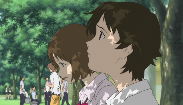 The Girl Who Leapt Through Time having lunch