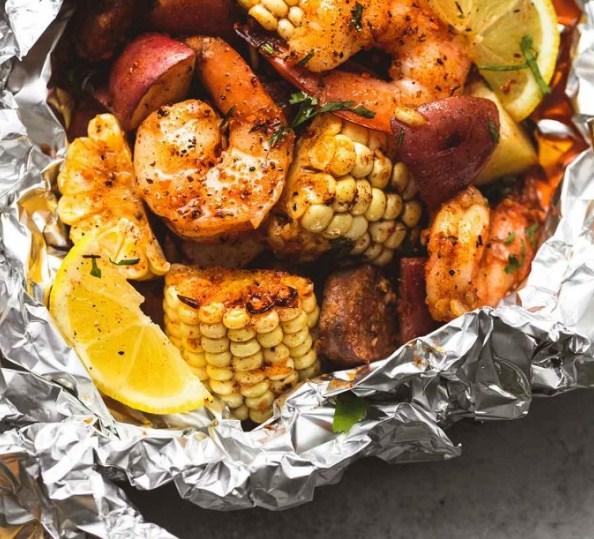 Half pound boiled naked shrimp flavored with lemon pepper