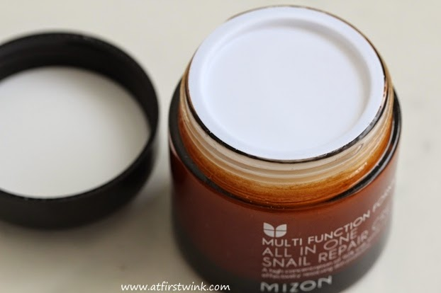 Mizon All in one snail repair cream lid