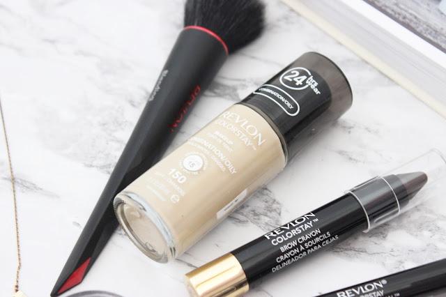 revlon, brush, foundation, colorstay foundation, brow crayon, eye kajal, lipliner, ultimate suede, mega multiplier, nail envy, revlon review, makeup review
