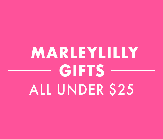 marleylilly gifts for less than 25 dollars