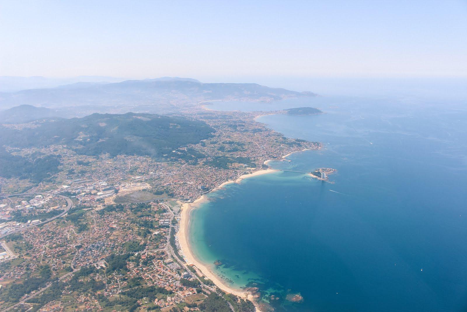 Sobrevolando las playas de Vigo