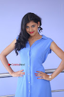 Telugu Actress Mounika UHD Stills in Blue Short Dress at Tik Tak Telugu Movie Audio Launch .COM 0070.JPG