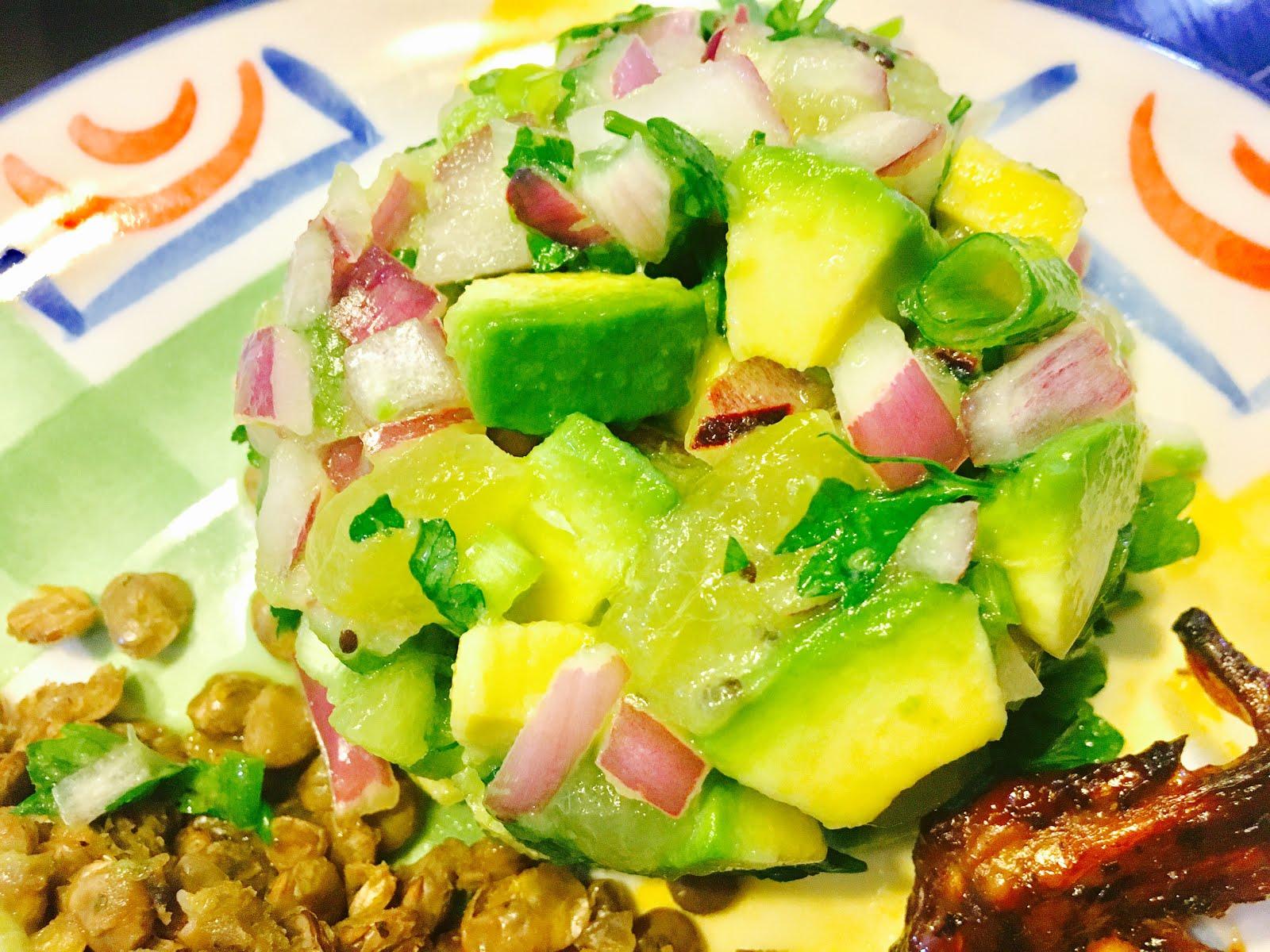 @ZespriUK SunGold Kiwifruit Avocado Salsa Verde Recipe #SnackSquad