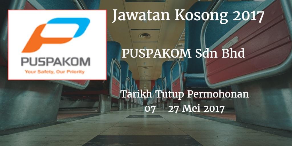 Jawatan Kosong PUSPAKOM Sdn Bhd 07 - 27 Mei 2017