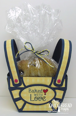 ODBD Custom Bountiful Basket Dies, ODBD Custom Pierced Ovals Dies, ODBD Gingham Background, ODBD Baking Tag Sentiments, Project Designer Angie Crockett