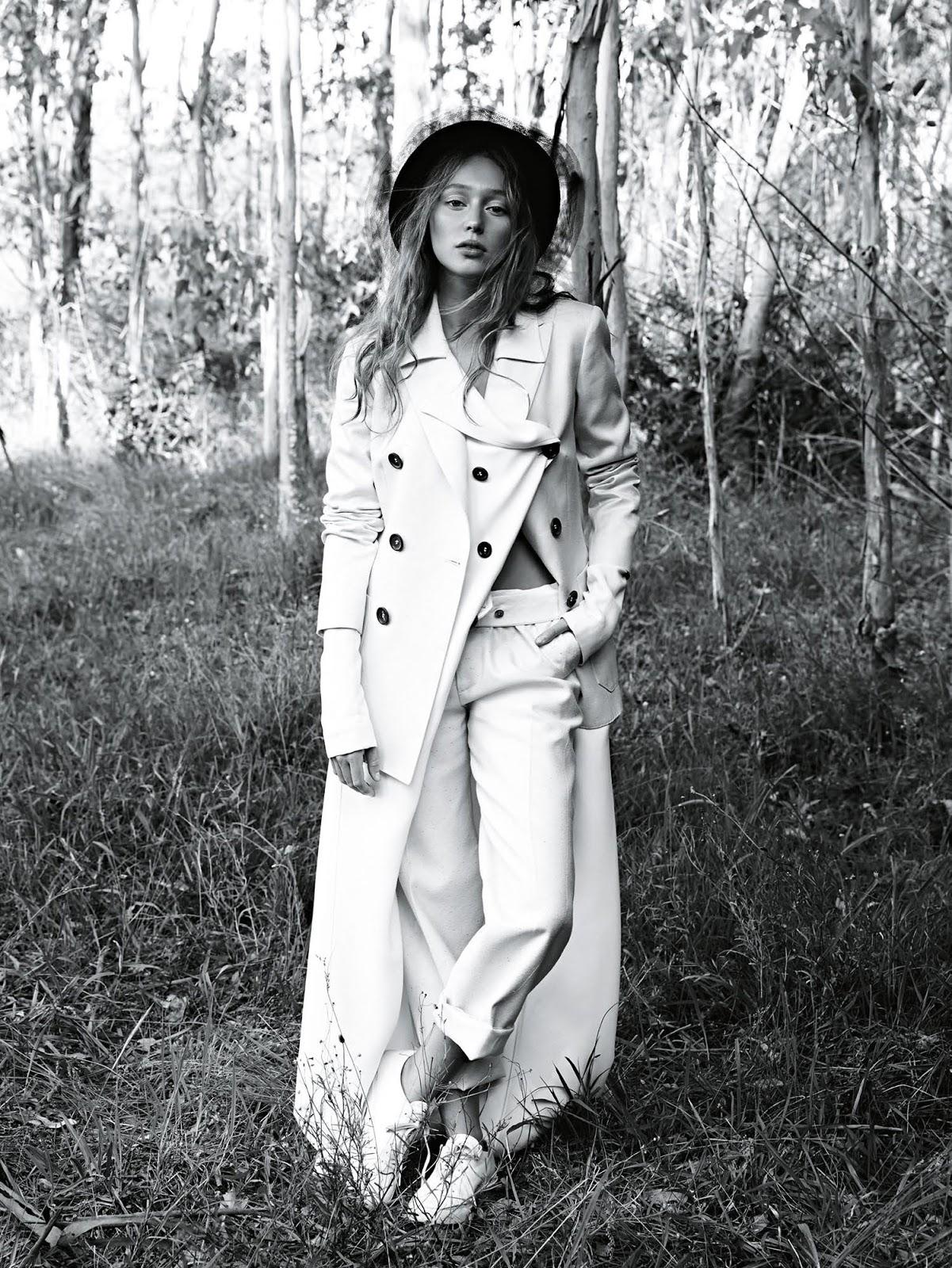 Alycia Debham in Vogue Australia May 2016 (photography: Nicole Bentley, styling: Meg Gray) via www.fashionedbylove.co.uk british fashion blog