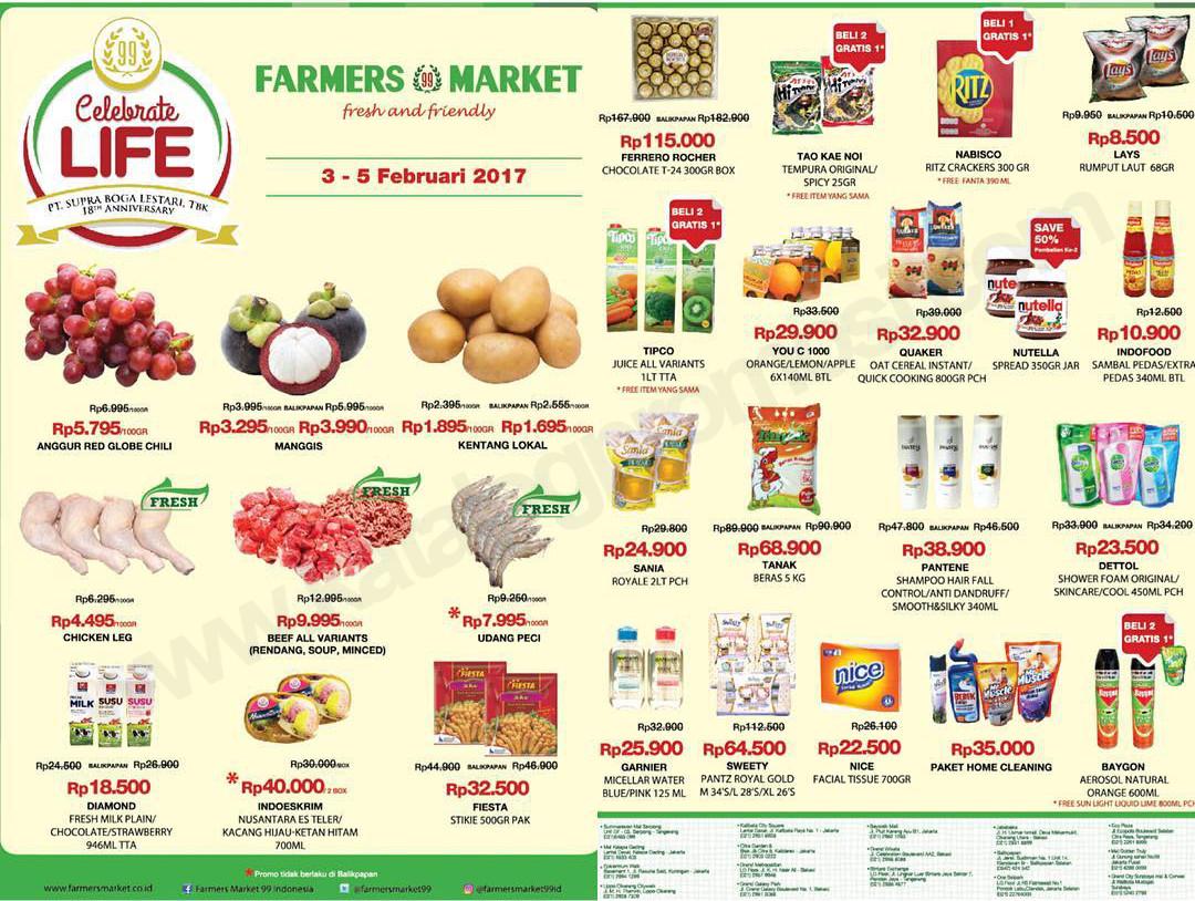 Katalog Harga Promosi Dan Promo Diskon Terkini Katalog Farmers Market Promo Weekend Periode 03 05 Februari 2017